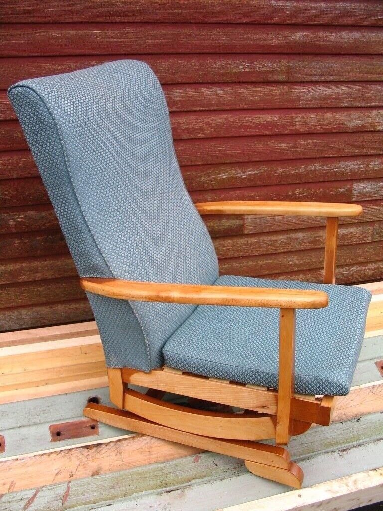timeless design 9703e 3cdf6 Platform rocking armchair spring rocker chair high nursing chair  mid-century 1950-60's Danish style   in Wester Hailes, Edinburgh   Gumtree