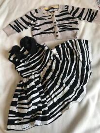 Girls next set 3-6 Months dress cardigan and coat