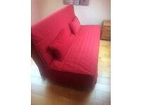 IKEA BEDDINGE LOVAS 3 seat sofa bed + red cover in almost new condition 200 x 140 cm