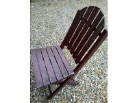 Wooden folding garden chair