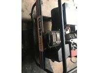 Petrol generator, pull and electric start. 110V and 240V. Nearly new condition.