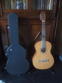 Classical Guitar and Hard Case for sale.
