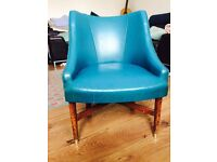 Chair, beautiful teal colour