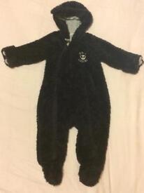 Pumpkin Patch Boys Navy Onesie Winter Suit - size 12-24 months