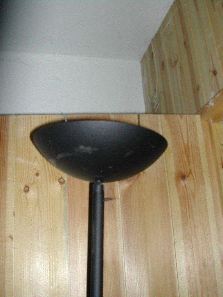 Modern Contemporary Black Metal Standard Lamp Uplighter