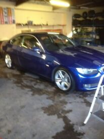2006 BMW 335D Coupe, stage two remap, large Mtec intercooler, a very fast car for very little money