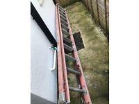 24ft fibreglass extension ladder perfect working order