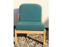 Beechwood Reception chairs x 6 immaculate cost £900