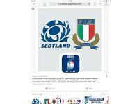 2 X SCOTLAND vs ITALY, Six Nations Tickets