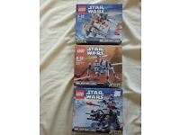 3 x series 2 Lego Starwars microfighters