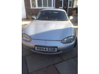Silver Mazda MX-5 Roadster 1800cc - Hardtop/Soft-top