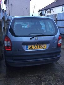 VAUXHALL ZAFIRA AUTOMATIC ONLY 63000 LONG MOT 16 NOV 2017