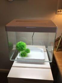 Stunning Juwel Vio 40 litre LED white modern aquarium fish tank
