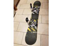 Snowboard - Salomon Pulse (160) with Santa Cruz Bindings