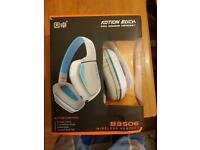 BRAND NEW BOXED KOTION EACH BLUETOOTH WIRELESS HEADSET WITH MICROPHONE.