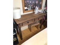 Corona Oak Wood dressing table bedroom furniture MINT