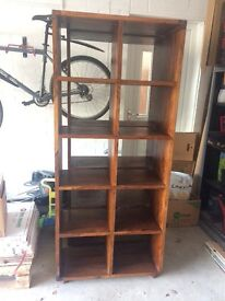 Hardwood bookshelves x2