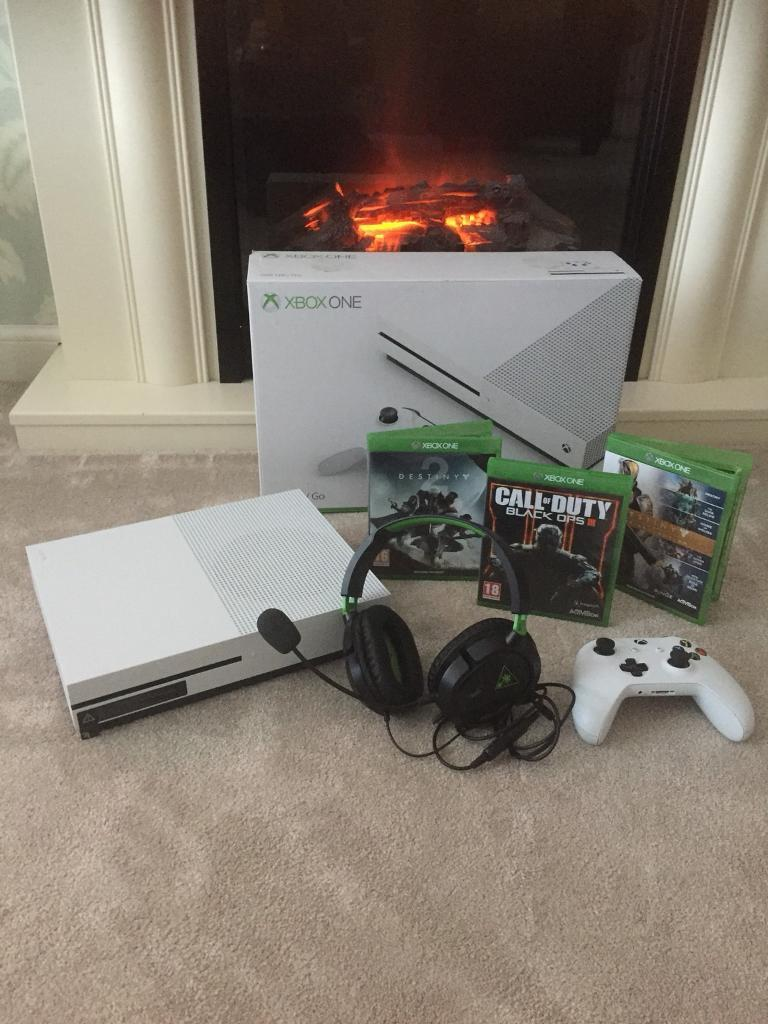 XBOX ONE S 500GB, Headset & 3 Games PRISTINE | in Chapelhall, North ...