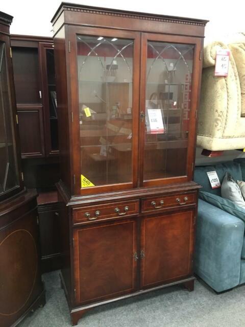 Bhf Dark Wood Display Cabinet In