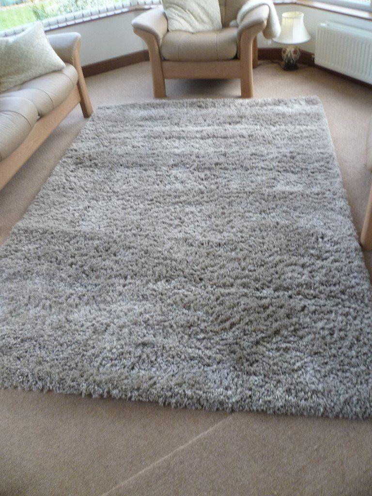 Beautiful Long Pile Rug Furness Mink 160 Cm X 230