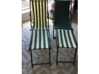 Deck chairs sun loungers vintage retro