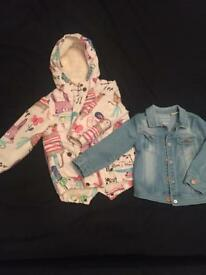 Toddler coat and denim jacket - girls