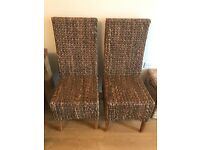 Solid Oak 5ft table and 6 chairs