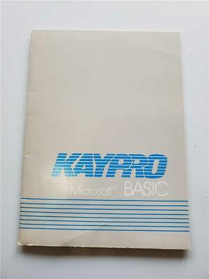 KAYPRO Manual  MICROSOFT BASIC Quick Reference Guide for Kaypro 10 computers for sale  Shipping to South Africa