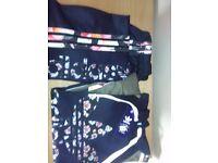 Blue Floral Adidas Tracksuit