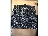 topshop leopard print skirt size 14