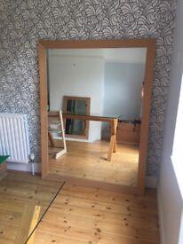 Large Wooden Habitat Mirror