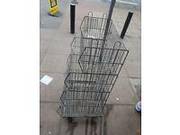 4 tier shelf trolley