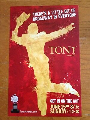 Tony Awards 2008 Broadway Window Card Poster  Gypsy South Pacific In The Heights