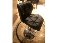 Leather kitchen bar stool up and down