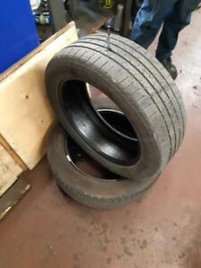 235/55/19 (2 tires)  All season, CONTINENTAL CROSS CONTACT tires with 6mm tread