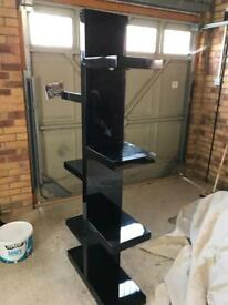 Gloss black book case / display unit