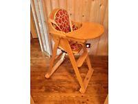 East Coast Wooden folding high chair