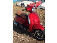 Lexmoto Vienna 125, 290 miles, 1 year warranty, immaculate condition