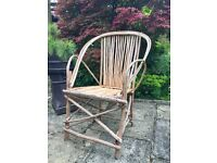 Rustic Hand Made Twig Garden Chair