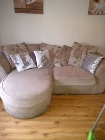 Cuddle sofa with matching arm chair