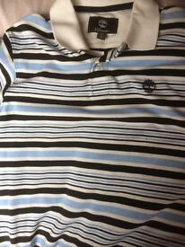 New Men's TIMBERLANDS Stripe polo shirt size Small