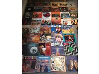 Job lot of 215 vinyl Lp's and 12 inches