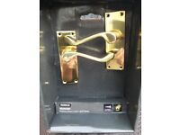 Homebase Victorian polished brass lever door handle
