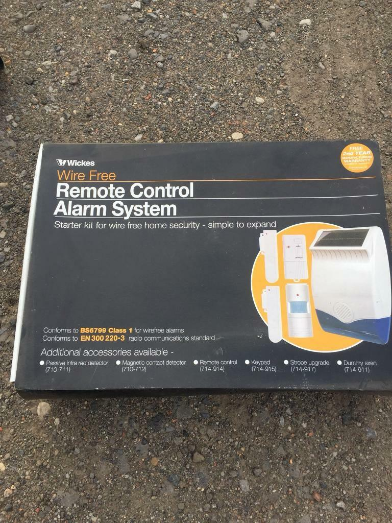 wickes remote control alarm system (wire free)