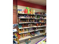 Shop shelves for retail use grocery