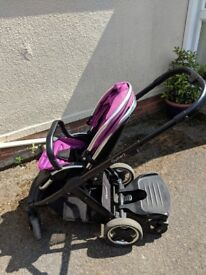 Oyster 2 buggy with carry cot and buggy board