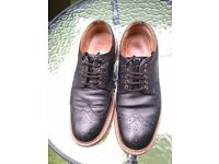 Black John White Oxford Brogues