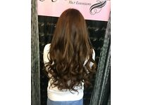 Angelslocks Hair Extension technician Kent Essex London nano rings,pre bonded & tape hair