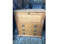 Solid wood bureau for sale