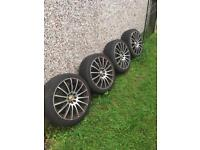 Set of 4 wheels and tyres